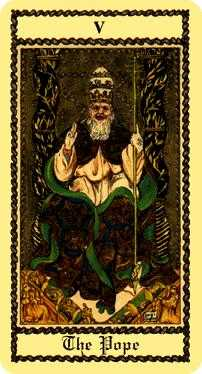 The Pope Tarot Card - Medieval Scapini Tarot Deck