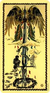 Ace of Swords Tarot Card - Medieval Scapini Tarot Deck