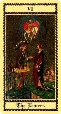 The Lovers Tarot Card - Medieval Scapini Tarot Deck