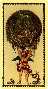 Ace of Buffalo Tarot Card - Medieval Scapini Tarot Deck