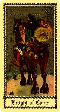 Knight of Coins Tarot Card - Medieval Scapini Tarot Deck