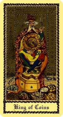 King of Buffalo Tarot Card - Medieval Scapini Tarot Deck