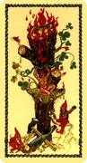 Ace of Wands Tarot card in Medieval Scapini deck
