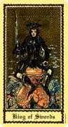 King of Swords Tarot card in Medieval Scapini Tarot deck