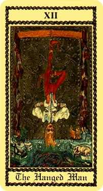 The Hanged Man Tarot Card - Medieval Scapini Tarot Deck