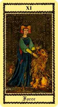 Force Tarot Card - Medieval Scapini Tarot Deck