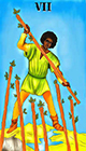 melanated - Seven of Wands