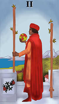 melanated - Two of Wands