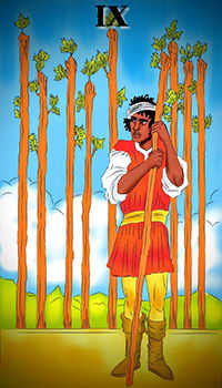 melanated - Nine of Wands