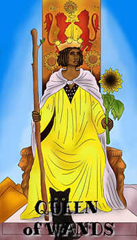 melanated - Queen of Wands