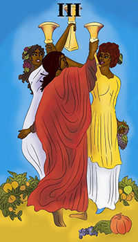 melanated - Three of Cups