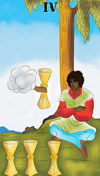 melanated - Four of Cups