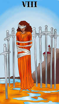 melanated - Eight of Swords