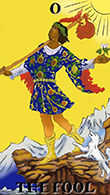 The Fool Tarot card in Melanated Classic Tarot Tarot deck