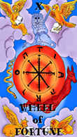 Wheel of Fortune Tarot card in Melanated Classic Tarot Tarot deck