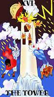 The Tower Tarot card in Melanated Classic Tarot Tarot deck