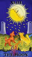 The Moon Tarot card in Melanated Classic Tarot deck