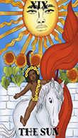 The Sun Tarot card in Melanated Classic Tarot Tarot deck