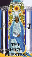 The High Priestess Tarot card in Melanated Classic Tarot deck