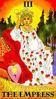 The Empress Tarot card in Melanated Classic Tarot Tarot deck