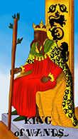 King of Wands Tarot card in Melanated Classic Tarot Tarot deck