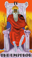 The Emperor Tarot card in Melanated Classic Tarot deck