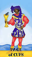 Page of Cups Tarot card in Melanated Classic Tarot deck