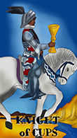 Knight of Cups Tarot card in Melanated Classic Tarot Tarot deck