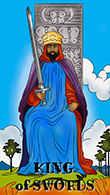 King of Swords Tarot card in Melanated Classic Tarot Tarot deck