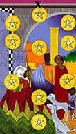 Ten of Coins Tarot card in Melanated Classic Tarot deck