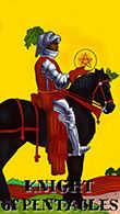 Knight of Coins Tarot card in Melanated Classic Tarot deck