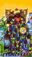 King of Coins Tarot card in Melanated Classic Tarot deck