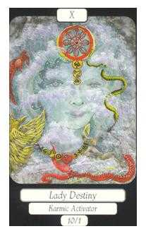 The Wheel of Fortune Tarot Card - Merry Day Tarot Deck