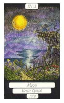 The Moon Tarot Card - Merry Day Tarot Deck
