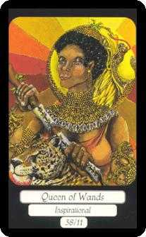 Queen of Batons Tarot Card - Merry Day Tarot Deck