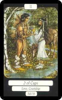 Two of Hearts Tarot Card - Merry Day Tarot Deck