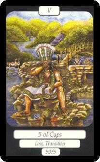 Five of Cauldrons Tarot Card - Merry Day Tarot Deck