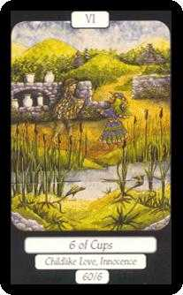 Six of Bowls Tarot Card - Merry Day Tarot Deck
