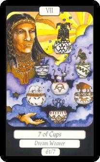 Seven of Bowls Tarot Card - Merry Day Tarot Deck