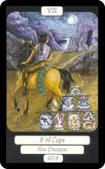 Eight of Ghosts Tarot Card - Merry Day Tarot Deck