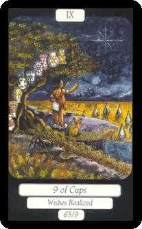 Nine of Ghosts Tarot Card - Merry Day Tarot Deck