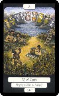 Ten of Ghosts Tarot Card - Merry Day Tarot Deck