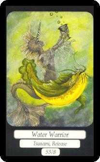 Water Warrior Tarot Card - Merry Day Tarot Deck