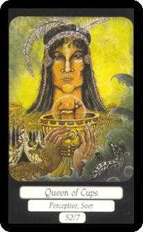 Queen of Bowls Tarot Card - Merry Day Tarot Deck