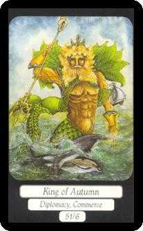 King of Cups Tarot Card - Merry Day Tarot Deck
