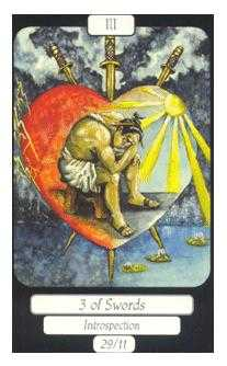 Three of Swords Tarot Card - Merry Day Tarot Deck