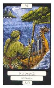 Six of Arrows Tarot Card - Merry Day Tarot Deck