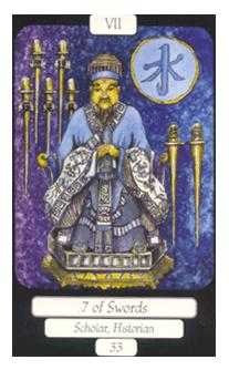 Seven of Arrows Tarot Card - Merry Day Tarot Deck