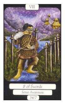 Eight of Swords Tarot Card - Merry Day Tarot Deck