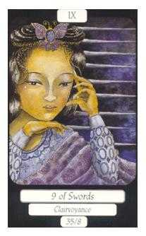 Nine of Swords Tarot Card - Merry Day Tarot Deck
